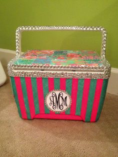 Hand Painted Personal Cooler. $75.00, via Etsy.