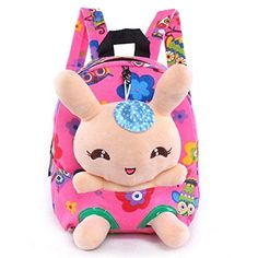 Kid/'s Toddler Girls Plush Doll Backpack Toy Snack Travel Bag Pre-School Bags