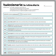 Twiccionario: La rutina diaria y los verbos reflexivos