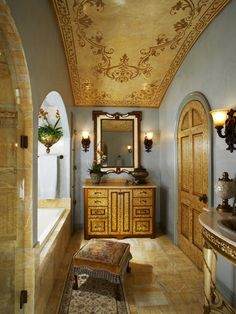 Mediterranean Bathroom Design and ceiling, Pictures, Remodel, Decor and Ideas - page 28