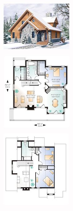Bungalow House Plan 65246 | Total Living Area: 1625 sq. ft., 3 bedrooms and 2 bathrooms. #bungalowhome
