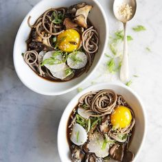 This soup is trendy ramen's healthier sibling: The buckwheat in soba is nutritious and a good source of fiber (and it's flavorful, too).