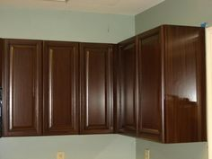 Brown Painted Kitchen Cabinets brown painted kitchen cabinets & silver hardware .. looks like our