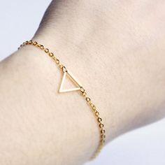 Wholesale triangle bracelet bangle metal Gold Chain Bracelet  for women girl  SH053