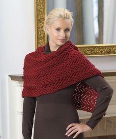 Free Pattern: Knit Lace Shawl by Coats & Clark
