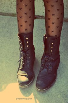 stockings and boots.