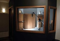 Vocal Booth (outside view) and possibly a manual tint or curtains hung from the outside. oftentimes the best sounds come from being alone
