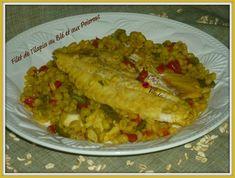 Filet de tilapia  au blé et aux poivrons