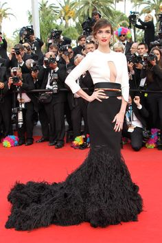 Cannes Film Festival 2012 - Paz Vega in Stephane Rolland couture at the Madagascar 3 premiere.