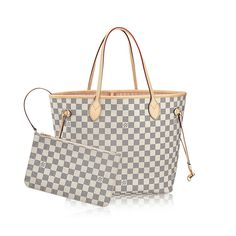 Neverfull MM Damier Azur Canvas Damen Handtaschen | LOUIS VUITTON