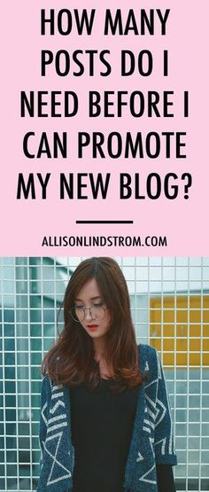 """It's the question most people ask when they're starting a blog. """"How many blog posts should I have before I can start promoting?"""" I'm sharing my answer today!"""