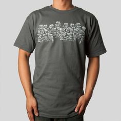 upper-playground - Sam Crowd T-Shirt in Charcoal #samflores #upperplayground @upperplayground #crowd #illustration #twelvegrain #samcrowd #tshirt
