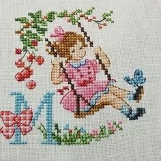 Ribbon Embroidery, Cross Stitch Embroidery, Cross Stitch Designs, Cross Stitch Patterns, Easter Cross, Cross Stitch Needles, Baby Nursery Decor, Needlework, Kids Rugs
