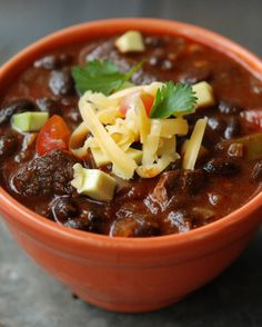 I love making this pork chili on lazy Sunday afternoons. Serve it with limes, chiles, hot sauce, sour cream, avocado, cheddar, corn chips and warm flour tortillas. #recipe No Bean Chili, Black Bean Chili, Bean Chilli, Football Food, Watch Football, Stuffed Hot Peppers, Soups And Stews, Chili Food, Chili Chili