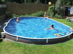 The most-versatile DIY Pool The walls of the swimming pool are assembled from thick-walled zinc-coated metal plates, whi… – pool ideas Swimming Pool Kits, Swimming Pools Backyard, Swimming Pool Designs, Pool Decks, Semi Inground Pools, Homemade Pool Heater, Homemade Pools, In Ground Pool Kits, In Ground Pools