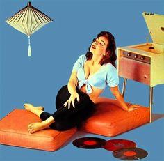 vinylespassion: Miss You, 1950's.