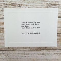 Typewriter Quote Card Underwood Typewriter TO by WritersWire