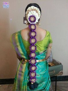 TBG Bridal Store - India's Top Online Bridal Store for South Indian Brides Online Bridal Store, Bridal Stores, Engagement Hairstyles, Bride Hairstyles, Indian Wedding Flowers, South Indian Wedding Hairstyles, Hairdo Wedding, Desi Wedding, Traditional Hairstyle