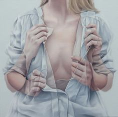 Provoking motion blurred double vision paintings. This is a small collection of oil paintings by artist Horyon Lee. The artist portrays girls in a kind of