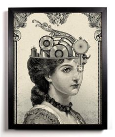 The Steampunk Queen Giclee Art Print 8 x 10 Buy 2 Get 1 FREE steam punk steampunk science fiction gears cogs post-apocalyptic via Etsy Vintage Wall Art, Vintage Walls, Steampunk Kunst, Steampunk Diy, Occult Art, Desenho Tattoo, Dictionary Art, Wall Art Quotes, Quote Wall