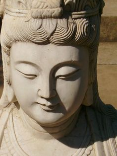 Quan Yin (Chinese) or Kannon (Japanese) - Goddess of Mercy & Compassion - beautiful Buddha Art, Buddha Head, Japanese Goddess, Guanyin, Gods And Goddesses, Tibet, Deities, Feng Shui, Namaste