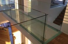 Glass Bridge Glass Bridge, Glass Railing, Railings, Table, Furniture, Home Decor, Decoration Home, Room Decor, Floating Stairs