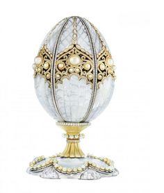 Le premier œuf de Fabergé façonné en 99 ans, exposé à Doha http://journalduluxe.fr/oeuf-de-perle-faberge/