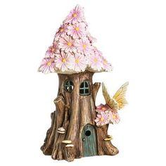 9.75 Spring Petals Solar Fairy House - Multi Color - Evergreen Enterprises,