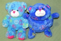 Build A Bear PEACE BEAR Baby Blue & Roly Poly Round Plush Stuffed Animals Toys #BuildABearWorkshop #any