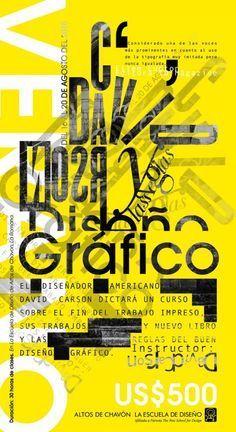 Typographic poster design by David Carson Type Posters, Graphic Design Posters, Graphic Design Typography, Lettering Design, Graphic Design Illustration, Typo Design, Poster Designs, Layout Design, Design Design