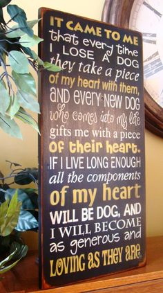 Every Time I Lose A Dog Typography Wooden Primitive Sign by kshopa, $59.95