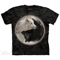 The Mountain Yin Yang Wolves T-Shirt