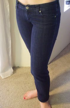 Adventures in Dressmaking: How to make skinny jeans from flared jeans!