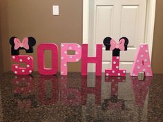 Minnie Mouse Custom Name Letters by KimsCrafts39 on Etsy