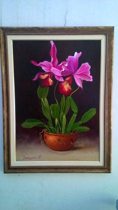 Óleo sobre Tela Floral. Aluna Terezina.