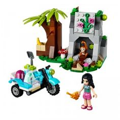 The LEGO Friends First Aid Jungle Bike building set is a 156-piece set that kids can build to help LEGO Friends' Emma on a jungle rescue.