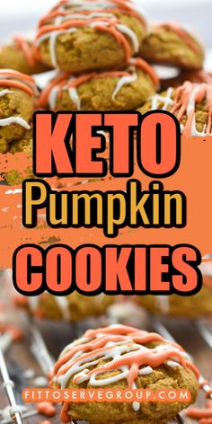Keto  Pumpkin Cookies for a pumpkin spice cookie that won't affect your waistline. Low in carbs, and sugar-free these keto pumpkin cookies are bursting with the flavor of fall and are sure to become a seasonal favorite. Keto Cookies| low carb cookies| sugar-free cookies| Keto pumpkin recipe| low carb pumpkin recipe #ketopumpkincookies #lowcarbpumpkincookies