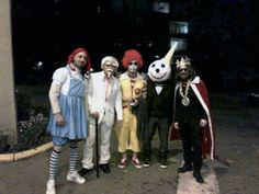 The fast food gang Halloween costumes