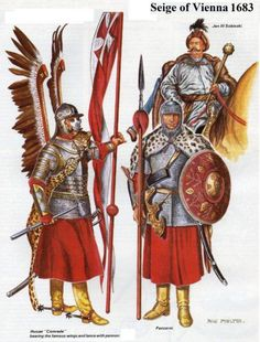 Polish Hussars during the Siege of Vienna, ca 1683 Poland History, Thirty Years' War, Legends And Myths, Military Art, Military Uniforms, Medieval Armor, Modern Warfare, Interesting History, Middle Ages