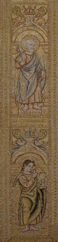 Decorative Band for an Ecclesiastical Vestment Depicting Saints  Italy or Spain, 16th century