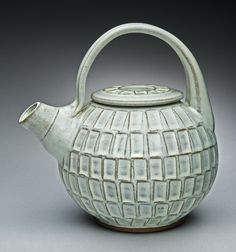 Styling ceramic teapot