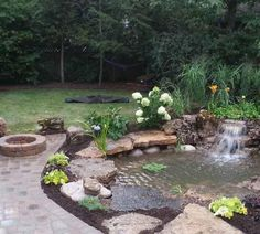Waterfall created by Gem Ponds in Roselle, IL. #WaterfallWednesday