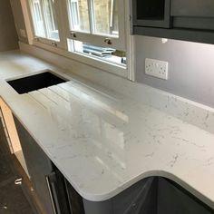 Carrera - High Barnet, Hertfordshire - Rock and Co Granite Ltd Marble Quartz, White Quartz, Engineered Stone, Barnet, Carrara, Stones, Design, Home Decor, Granite