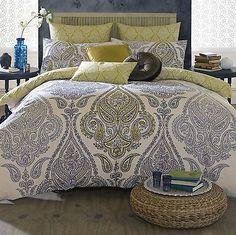 Designer Celebrity Elizabeth Hurley Lamara Cotton Printed Bedding Duvet Set New.
