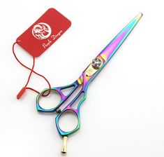 Zi 6.0 inch color colorful personality hairdressing scissors barber scissors flat cut package delivery