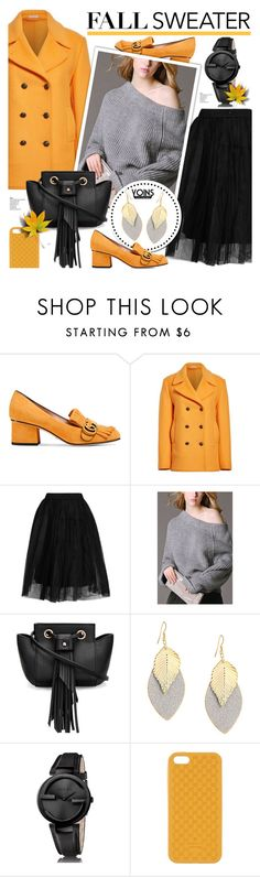 """""""Fall sweater - yoins 3.17"""" by cly88 ❤ liked on Polyvore featuring Gucci, Tomas Maier and Topshop"""