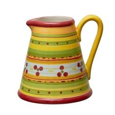 Summer water pitcher hand painted by Festin Coquin