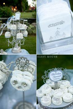 Cinderella wedding inspired photo shoot - dessert display
