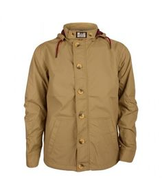 Mens Weekend Offender El Nino Stone Hooded Jacket
