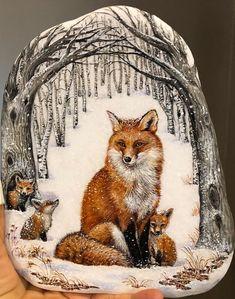Powered by Rock Street Pebble Painting, Pebble Art, Stone Painting, Rock Painting Patterns, Rock Painting Designs, Painted Rock Animals, Hand Painted Rocks, Pet Rocks, Fox Art